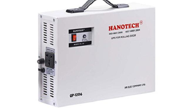 Sử dụng bộ lưu điện HanoTech cho cửa cuốn được không?